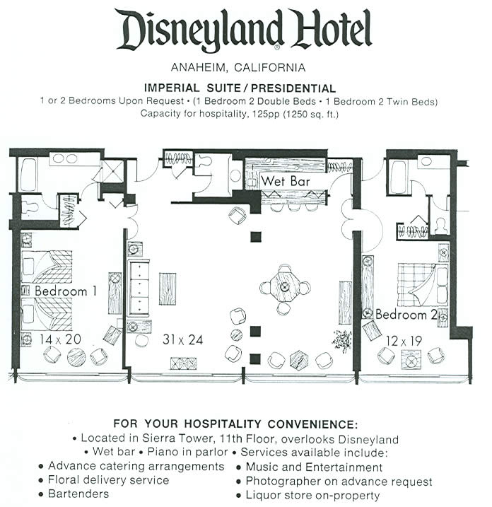 Disneyland Hotel 2 Bedroom Suite Layout 28 Images